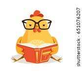 Cute Cartoon Chick Bird Sittin...