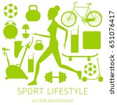 concept of sport lifestyle ... | Shutterstock .eps vector #651076417