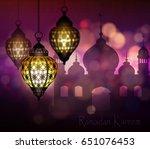 ramadan kareem  greeting... | Shutterstock .eps vector #651076453