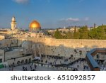 sunset at western wall and...   Shutterstock . vector #651092857