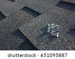 close up view on asphalt... | Shutterstock . vector #651095887