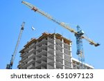crane and building under... | Shutterstock . vector #651097123
