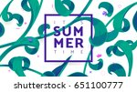summer time banner vector... | Shutterstock .eps vector #651100777