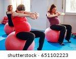 group of pregnant women sitting ... | Shutterstock . vector #651102223
