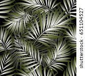 palm pattern. background | Shutterstock .eps vector #651104527