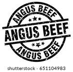 angus beef round grunge black... | Shutterstock .eps vector #651104983