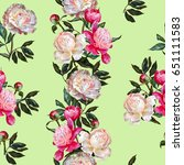 seamless floral pattern.white... | Shutterstock . vector #651111583