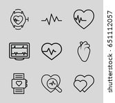 heartbeat icons set. set of 9...   Shutterstock .eps vector #651112057