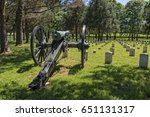 cannon at the stones river... | Shutterstock . vector #651131317