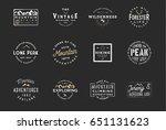 outdoor wilderness logos ... | Shutterstock .eps vector #651131623