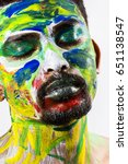 male model face painting | Shutterstock . vector #651138547
