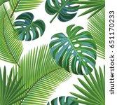 tropical pattern. seamless... | Shutterstock .eps vector #651170233