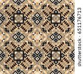 geometric seamless retro... | Shutterstock . vector #651176713