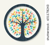 isolated tree symbol made of... | Shutterstock .eps vector #651178243