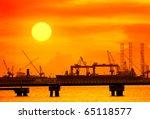 Cranes In Remontowa Dockside