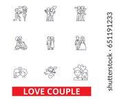 love couple  romantic  love... | Shutterstock .eps vector #651191233