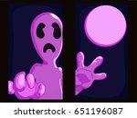 the grim ghost in window | Shutterstock .eps vector #651196087