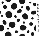 seamless pattern with rounded... | Shutterstock .eps vector #651221527