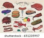 beautiful illustration summer... | Shutterstock .eps vector #651235957