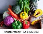fresh vegetable   Shutterstock . vector #651239653