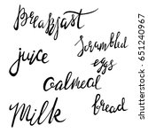 menu hand lettering collection. ... | Shutterstock .eps vector #651240967