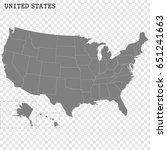 high quality map of united... | Shutterstock .eps vector #651241663