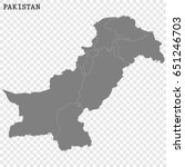 high quality map of pakistan...   Shutterstock .eps vector #651246703