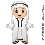 happy muslim kid presenting | Shutterstock . vector #651249637