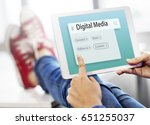 digital communication social... | Shutterstock . vector #651255037