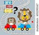 playing roller coaster  vector... | Shutterstock .eps vector #651290167
