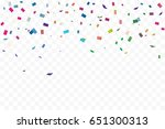 many falling colorful tiny... | Shutterstock .eps vector #651300313