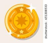 cute flat coin | Shutterstock .eps vector #651308533