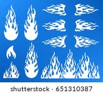 white vector decorative fire... | Shutterstock .eps vector #651310387