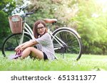 the young beautiful woman in... | Shutterstock . vector #651311377