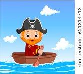 vector illustration of cartoon... | Shutterstock .eps vector #651314713