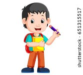 vector illustration of boy... | Shutterstock .eps vector #651315517