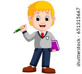 vector illustration of boy... | Shutterstock .eps vector #651315667