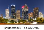 downtown houston early in the... | Shutterstock . vector #651320983