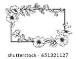 flower frame of rose floral.... | Shutterstock .eps vector #651321127