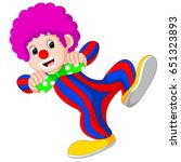 vector illustration of clown... | Shutterstock .eps vector #651323893
