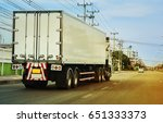 truck running on the road | Shutterstock . vector #651333373
