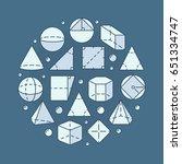 geometry and mathematics... | Shutterstock .eps vector #651334747
