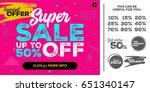 bright pink horizontal super... | Shutterstock .eps vector #651340147