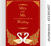 wedding invitation or card with ...   Shutterstock .eps vector #651341407
