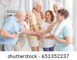 Small photo of Elderly active people happy about their training together