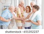 elderly active people happy... | Shutterstock . vector #651352237