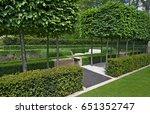 a classical garden with an...   Shutterstock . vector #651352747