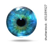 abstract eye isolated on white  ... | Shutterstock . vector #651359527