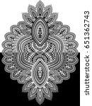 black and white paisley   Shutterstock .eps vector #651362743