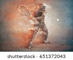 abstract tennis player  3d... | Shutterstock . vector #651372043
